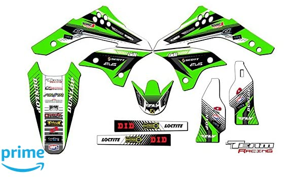 SCATTER Team Racing Graphics kit compatible with Suzuki 2002-2009 DRZ 110
