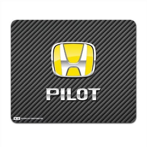honda-pilot-yellow-logo-carbon-fiber-look-computer-mouse-pad