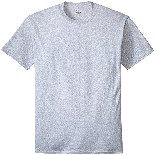 Hanes Men's Beefy-T Crewneck Short-Sleeve T-Shirt, Light Steel - 2XLT