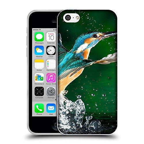 Just Phone Cases Coque de Protection TPU Silicone Case pour // V00004170 Colibri dans les projections d'eau // Apple iPhone 5C