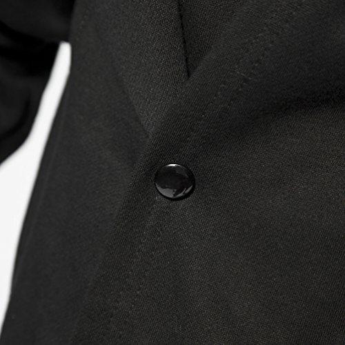 Men's Black Long Hooded Cardigan Large Cape Cloak Coat
