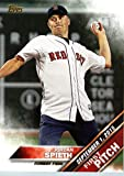 2016 Topps First Pitch #FP-7 Jordan Spieth Boston Red Sox Baseball Card in Protective Screwdown Display Case