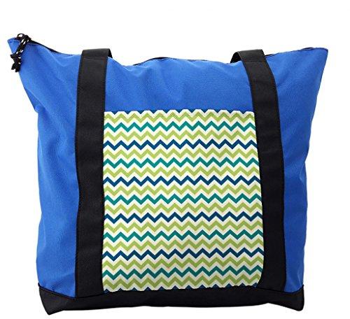 Pistachio Diaper Bag - Lunarable Chevron Shoulder Bag, Old Fashioned Summer Style, Durable with Zipper