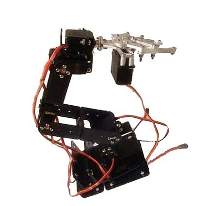 New 4 DOF Mechanical Robotic Arm Steering Gear Bracket Claw Robot DIY Kit