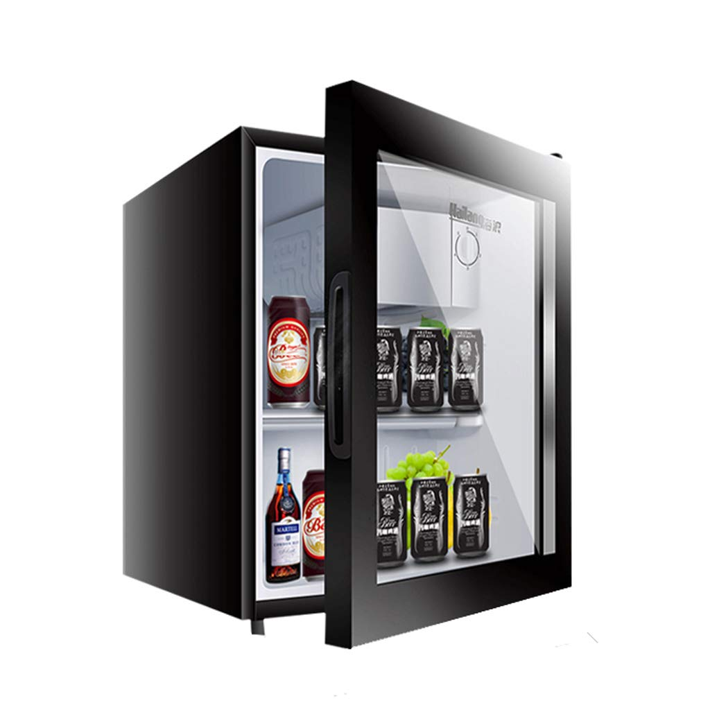 Lxn 50L Black Beverage Cooler,Under Counter Fridge with Covered Chiller Compartment,Glass Door,Small Drink Food Storage Machine for Office, Dorm or Apartment with Adjustable Removable Shelves
