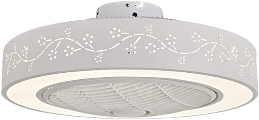 BTBAM Ventilador de Techo Moderna lámpara con Luces LED 36W, con Control Remoto, Tres Regulable en Color, Habitación Sala Estudio Decoración Colgante de la Linterna