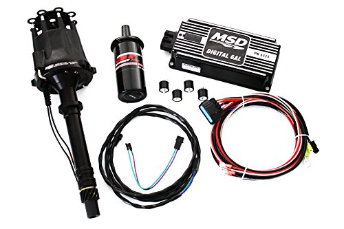 Msd Box Billet Pro Distributors - Black SBC/BBC MSD Ignition Digital 6AL Box w/Pro Billet Distributor & Coil