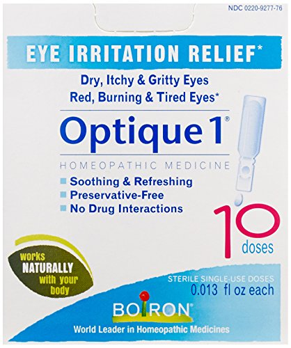 Boiron Optique 1 Eye Drops, 10 Single-use Doses (Pack of 3), Homeopathic Medicine for Eye Irritation - Homeopathics Optique 1 Eye Drops
