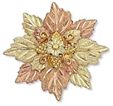 Landstroms 10k Black Hills Gold Brooch Pin with Leave Cluster - H412