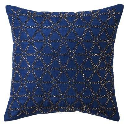 Xhilaration Blue Sequins Pillow