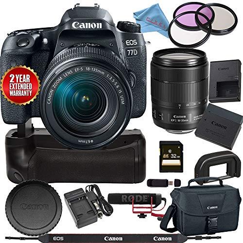 Canon EOS 77D DSLR Camera 18-135mm USM Lens 1892C002 USA Bundle