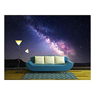 Landscape with Milky Way Night Sky with Stars...