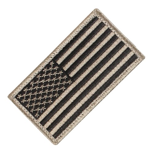Rothco Khaki/Black American Flag Patch with Hook Back