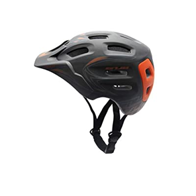 Bicycle Helmet Mountain self-propelled Road Bike Integrated Ventilation and Ventilation Helmet-Black-L(59-62cm) : Sports & Outdoors