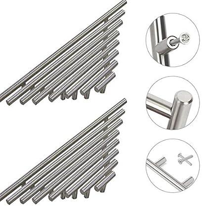 10 maniglie a T in acciaio inox, per mobili, porte ...
