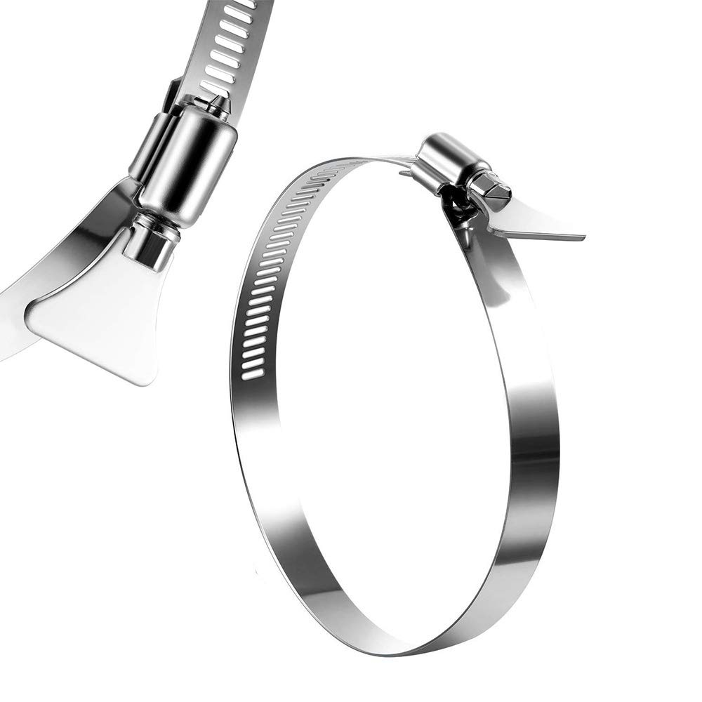 Hose Clamp IKTCH Adjustable Stainless Steel Duct Clamps Pipe Clamp Duct Clamps Dryer Vent Hose Clamp