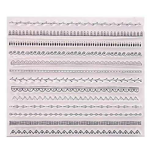 Different Types Lines Waves Plaid Leaves Lines Borders Stamps Rubber Clear Stamp/Seal Scrapbook/Photo Album Decorative Card Making Clear - Border Rubber Stamp