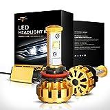 Auxbeam LED Headlight F-16 Series LED Headlights Bulbs with 2 Pcs of H11 LED Conversion Kits 60W 6000lm CREE LED Chips Fog Light