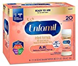 Enfamil A.R. Infant Formula for Spit Up, Ready to Use, 2 Fluid Ounce Nursette Bottle, 6 Count (Pack of 8)