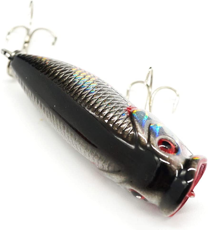 Seasky Fishing Plug Lures Micro Popper Topwater Trout Attack in Freshwater : Sports & Outdoors