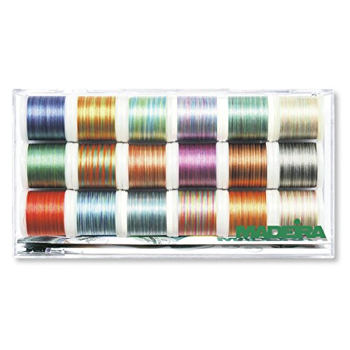 Multi-Colour Thread Polyneon 18 Spools 200m Each ()