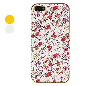 Black Roses with Red Leafs Pattern Electroplated Hard Case for iPhone 5 (Assorted Colors) , Gold