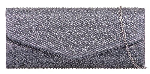 Cartera Handbags Mano Girly De Gris Mujer 574v4xqw