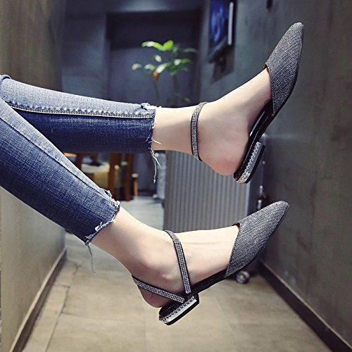 bassa moda punta silvery dorato estate di diamante in YMFIE argento scarpe Onorevoli e Ftx5wnq