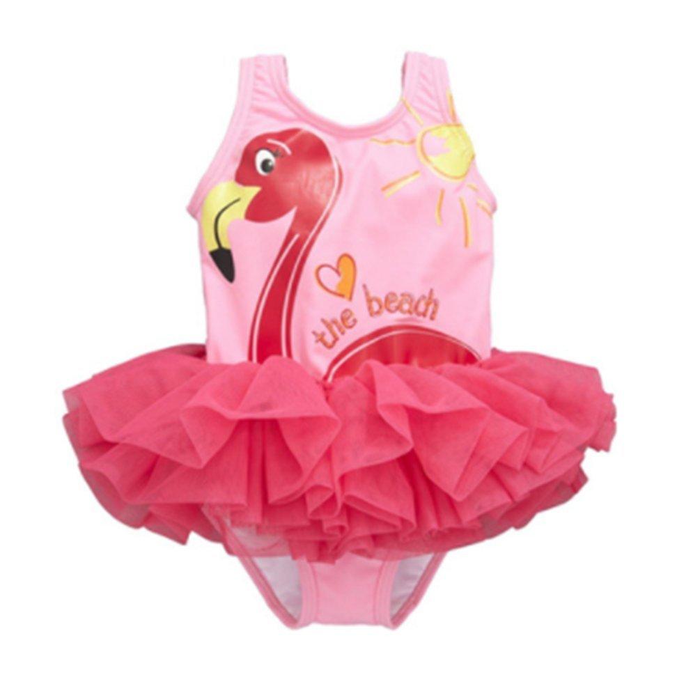 Toddler Girls' Swimwear One-Piece Swimsuit Digital Print Flamingo Beachwear Bathing Suit