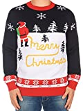 Tipsy Elves Ugly Christmas Sweater - Yellow Snow Sweater: Large
