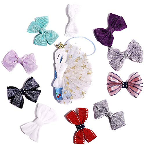 Baby Girls Hair Bows Hair Clips Ribbon Lined Alligator Clips for Infant Toddlers Hair