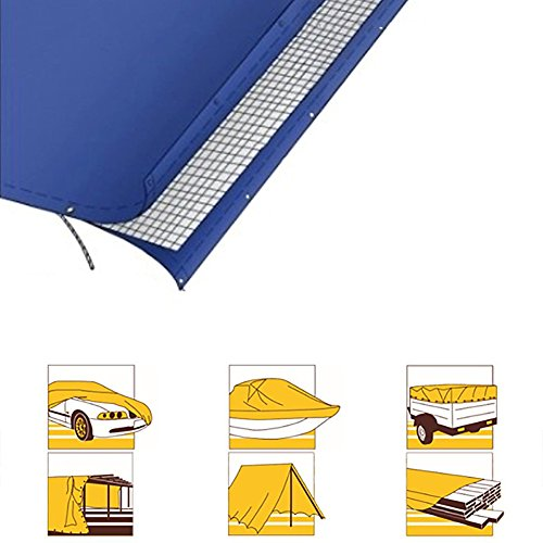Tarpaulin Tarpaulin Sheet Mouldproof Hardy Canopy Boats Covers Sunscreen Anti-aging Frost Resisting -180g/m², Thickness 0.38mm, Green, 9 Sizes Optional, Size Customized (Size : 3 x 3m) by Hw Ⓡ Tarpaulin (Image #6)