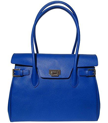Josephine Osthoff Manufacture De Sacs À Main Custodia à Pelle Monaco Di Josybag Blu (bleu)