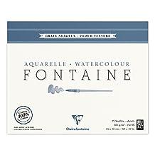 Clairefontaine Watercolour 300g Block 24x30cm CLOUD EFFECT - 15 sheets