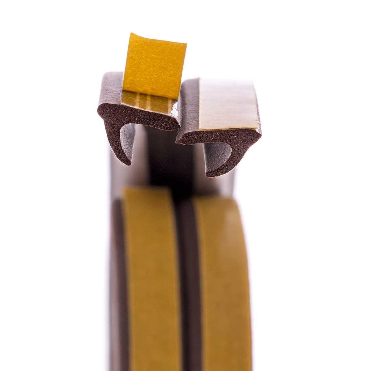 STEIGNER 20 m Joint de Fen/être Autocollant Profil V Blanc Joint en Caoutchouc EPDM Joint d/Étanch/éit/é