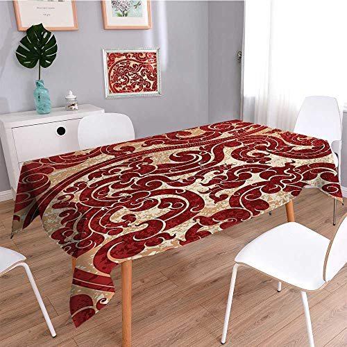 SCOCICI1588 Water Resistant Tablecloth Thai Culture Vector B