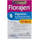 Florajen3 Digestion High Potency Refrigerated Probiotics | for Antibiotic Side Effects | 60 Capsules | Packaging May Vary