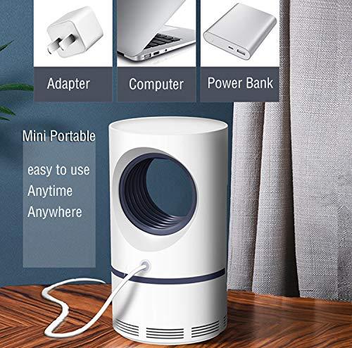 KKmoon Armadilha elétrica interna para mosquitos USB Power Insect Mosquito Killer Luz ultravioleta LED lâmpada mosquito…