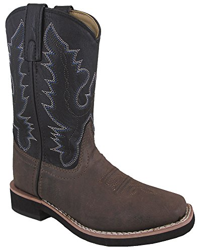 (Smoky Mountain Boys Tyler Square Toe Western Cowboy Boots,Brown/Black,13)