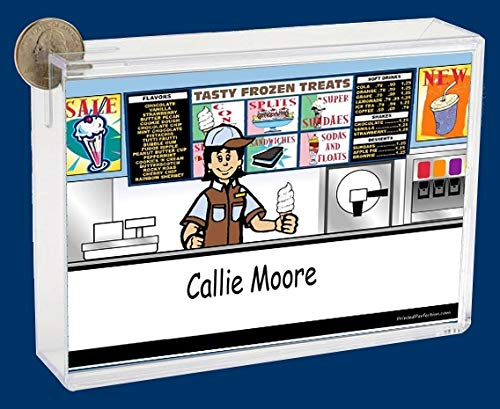 Personalized NTT Cartoon Side Slide Frame Gift: Ice Cream Store Female Gift, ice Cream Server, Baskin Robbins