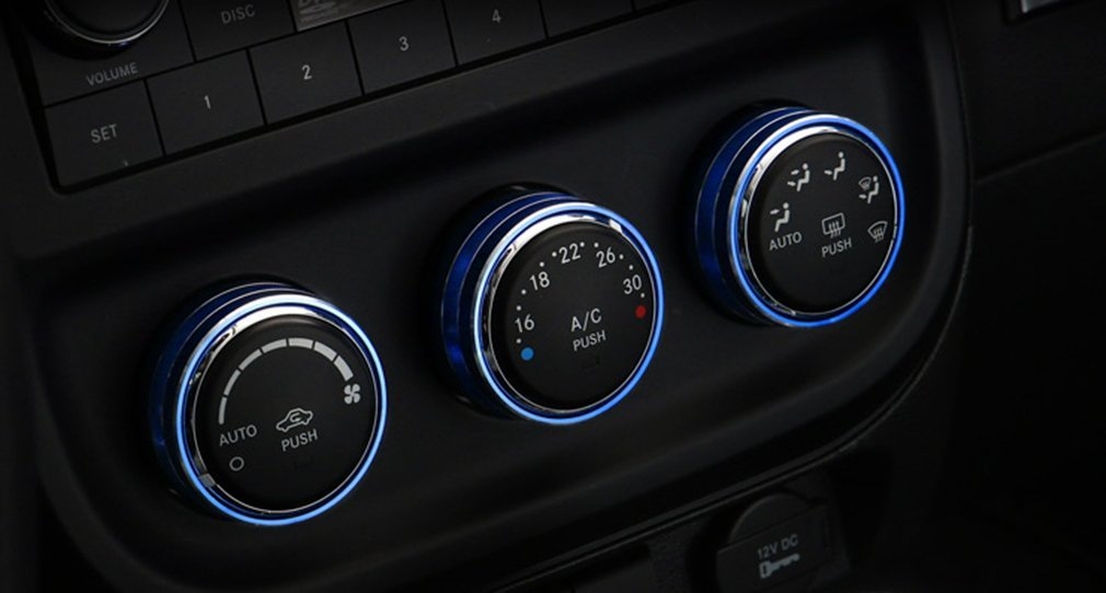 E-cowlboy Interior Audio Air Conditioning Button Cover Decoration Twist Switch Ring Trim for Jeep Wrangler JK JKU Compass Patriot 2011 2012 2013 2014 2015 2016 3PC//Set Green