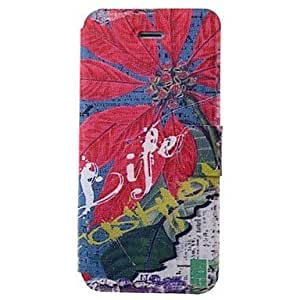 DUR Eiffel Tower Pattern PU Full Body Case with Card Slot for iPhone 5/5S