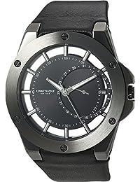 Kenneth Cole New York Men's 10030785 Transparency Analog Display Japanese Quartz Black Watch