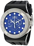 Invicta Men's 12292 Akula Sport Chronograph Blue Dial Black Silicone Watch