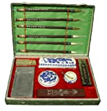 Large Chinese Brush and Ink Calligraphy Set