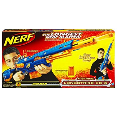 Nerf N-Strike Longstrike CS-6 Dart Blaster(Discontinued by manufacturer): Toys & Games