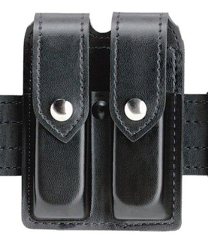Safariland 77 Double Magazine - Safariland Duty Gear Glock 19, 23, Chrome Snap Double Handgun Magazine Pouch (Plain Black)