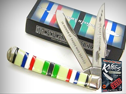 - ROUGH RIDER Desert Storm Veteran Commemorative TRAPPER Pocket Knife 0011403 New! + free eBook by ProTactical'US