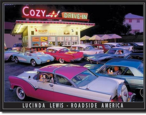 - COZY DRIVE IN HOT RODS V8 Muscle Ford Chevy CRUIZERS Beach 12.5