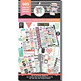 me & my BIG ideas Sticker Value Pack - The Happy Planner Scrapbooking Supplies - Productivity Theme - Multi-Color & Gold Foil - Great for Projects, Scrapbooks & Albums - 30 Sheets, 985 Stickers Total